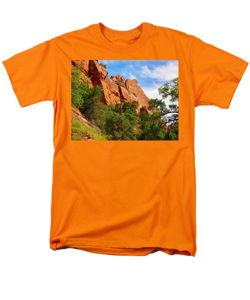Zion National Park 1 Men's T-Shirt  (Regular Fit) by Penny Lisowski