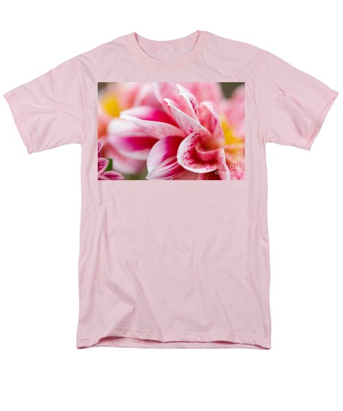 Men's T-Shirt  (Regular Fit) featuring the photograph Macro Image Of A Pink Flower by Nick  Biemans