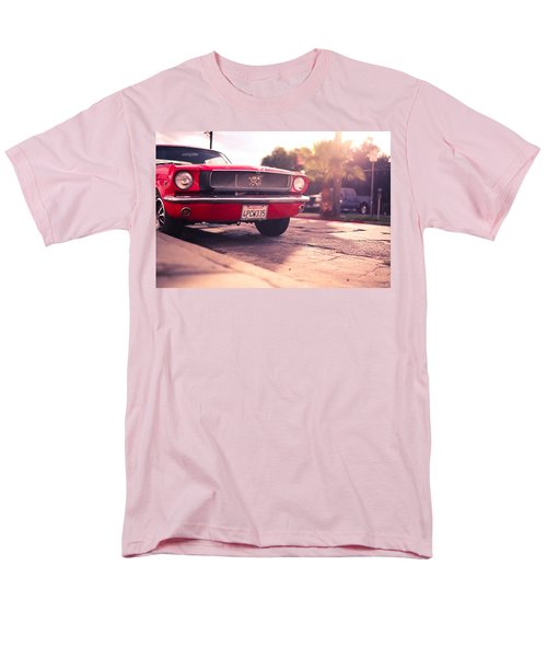 Men's T-Shirt  (Regular Fit) featuring the photograph 1966 Ford Mustang Convertible by Gianfranco Weiss