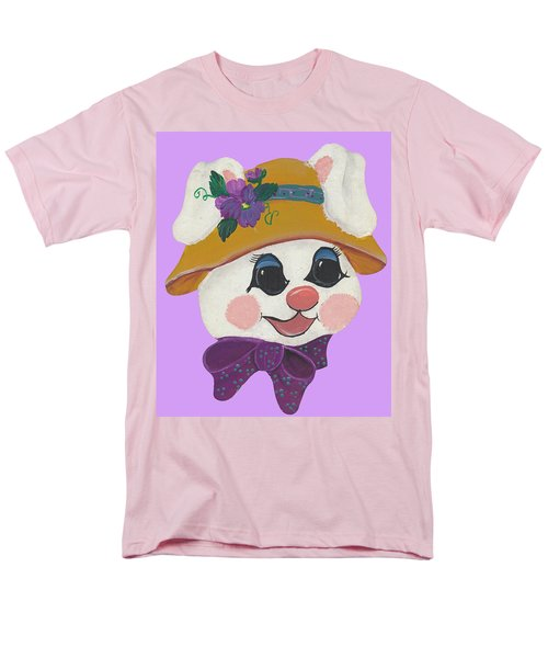 Men's T-Shirt  (Regular Fit) featuring the painting Funny Bunny by Barbara McDevitt