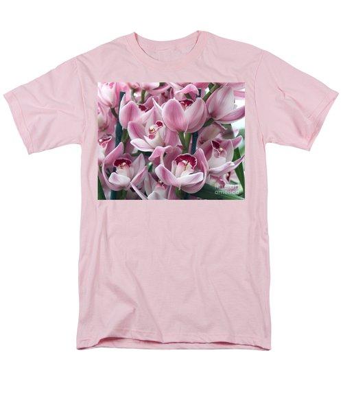 Pink Orchids Men's T-Shirt  (Regular Fit) by Debbie Hart