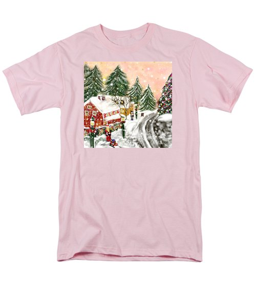 Men's T-Shirt  (Regular Fit) featuring the painting A Magical Frost by Lori  Lovetere