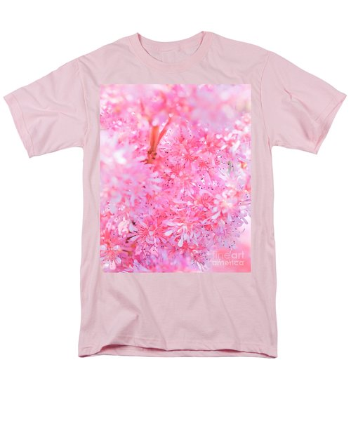A Natural Pink Bouquet Men's T-Shirt  (Regular Fit) by David Perry Lawrence