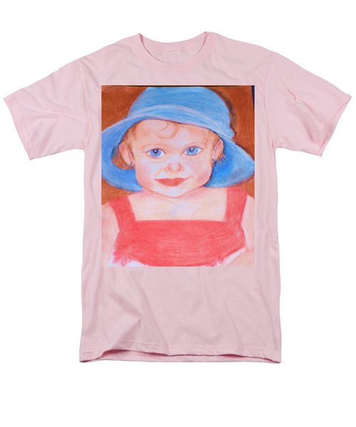 Baby In Blue Hat Men's T-Shirt  (Regular Fit) by Christy Saunders Church
