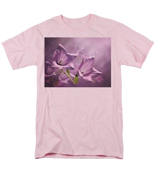 Men's T-Shirt  (Regular Fit) featuring the photograph Balloon Flowers by Ann Lauwers