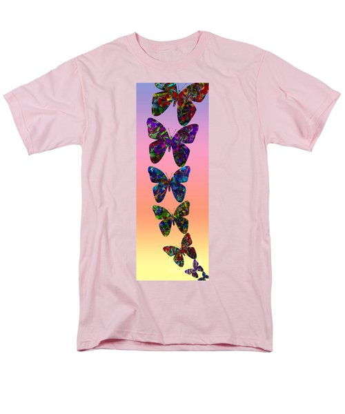 Men's T-Shirt  (Regular Fit) featuring the photograph Butterfly Collage IIII by Robert Meanor