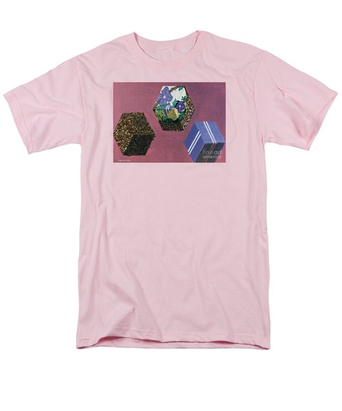 Men's T-Shirt  (Regular Fit) featuring the painting Easter Cubes - Painting by Megan Dirsa-DuBois