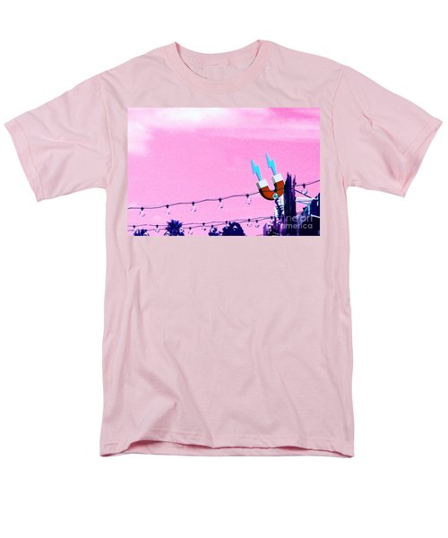 Men's T-Shirt  (Regular Fit) featuring the digital art Electric Pink by Valerie Reeves