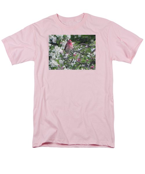 Finch In Apple Tree Men's T-Shirt  (Regular Fit) by Christine Lathrop