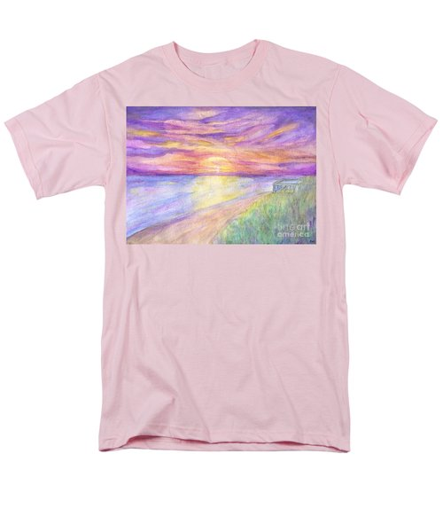 Flagler Beach Sunrise Men's T-Shirt  (Regular Fit) by Roz Abellera Art