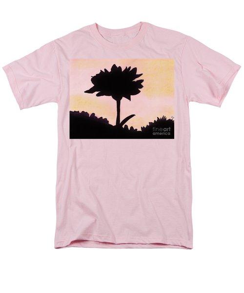Men's T-Shirt  (Regular Fit) featuring the drawing Flower - Sunrise by D Hackett
