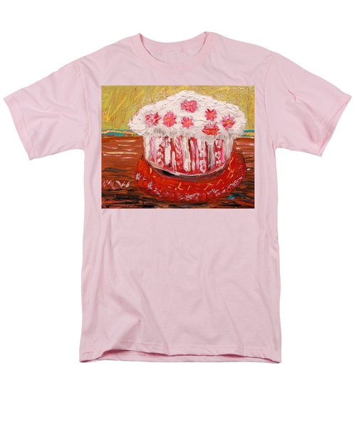Men's T-Shirt  (Regular Fit) featuring the painting Flowers In The Frosting by Mary Carol Williams