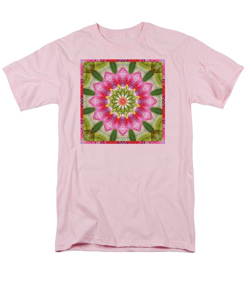 Men's T-Shirt  (Regular Fit) featuring the photograph Healing Mandala 25 by Bell And Todd