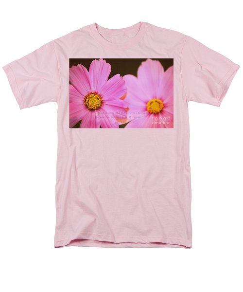 Inspirational Flower 2 Men's T-Shirt  (Regular Fit) by Eric Liller