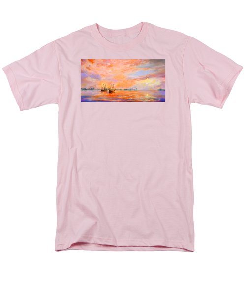 Men's T-Shirt  (Regular Fit) featuring the painting La Florida by AnnaJo Vahle
