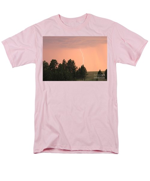Men's T-Shirt  (Regular Fit) featuring the photograph Lighting Strikes In Custer State Park by Bill Gabbert
