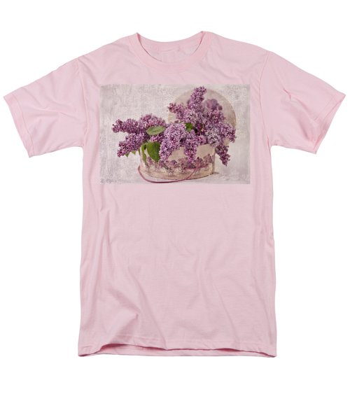 Men's T-Shirt  (Regular Fit) featuring the photograph Lilacs In The Box by Sandra Foster