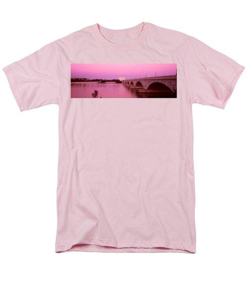 Memorial Bridge, Washington Dc Men's T-Shirt  (Regular Fit) by Panoramic Images