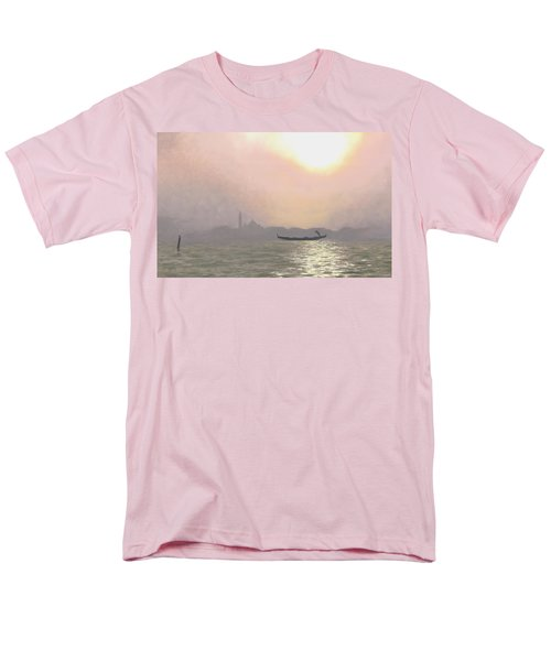 Men's T-Shirt  (Regular Fit) featuring the painting Misty Lagoona 34 X 47 by Michael Swanson