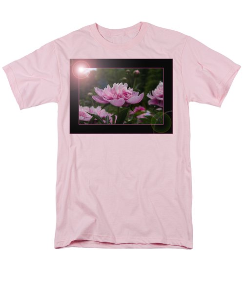 Men's T-Shirt  (Regular Fit) featuring the photograph Peony Garden Sun Flare by Patti Deters