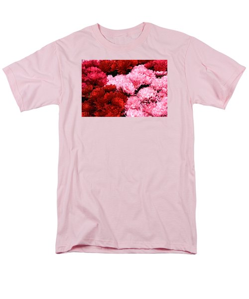 Pink And Red Men's T-Shirt  (Regular Fit) by Menachem Ganon