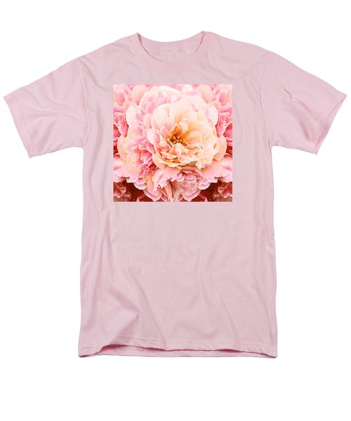Pink Peony Men's T-Shirt  (Regular Fit) by Michele Avanti