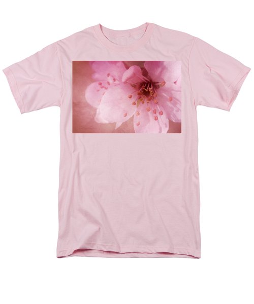 Men's T-Shirt  (Regular Fit) featuring the photograph Pink Spring Blossom by Ann Lauwers