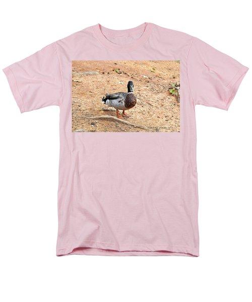 Men's T-Shirt  (Regular Fit) featuring the photograph Portrait Of An Alabama Duck 2 by Verana Stark