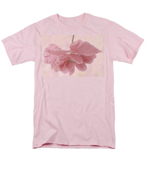 Men's T-Shirt  (Regular Fit) featuring the photograph Pretty Pink Poppy Macro by Sandra Foster