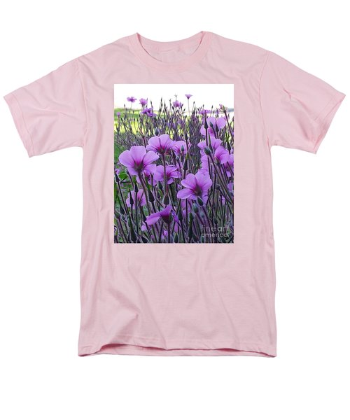 Men's T-Shirt  (Regular Fit) featuring the photograph Purple Field by Jasna Gopic