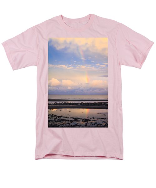Men's T-Shirt  (Regular Fit) featuring the photograph Rainbow Over Bramble Bay by Peta Thames