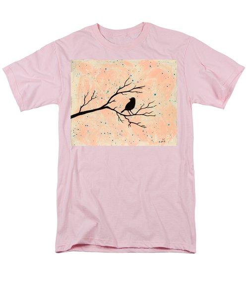 Silhouette Pink Men's T-Shirt  (Regular Fit)