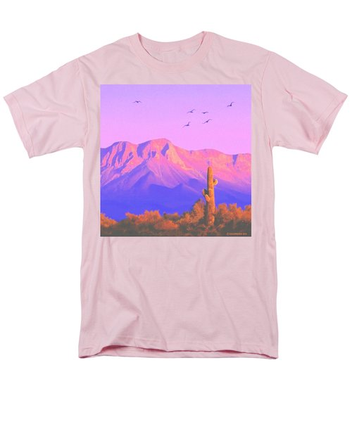Men's T-Shirt  (Regular Fit) featuring the painting Solitary Silent Sentinel by Sophia Schmierer