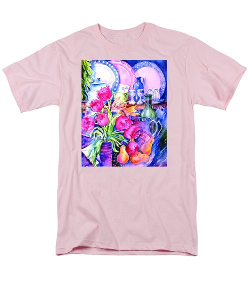 Still Life With Tulips  Men's T-Shirt  (Regular Fit) by Trudi Doyle