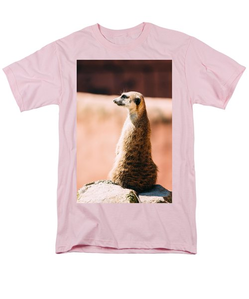 The Lonely Meerkat Men's T-Shirt  (Regular Fit) by Pati Photography