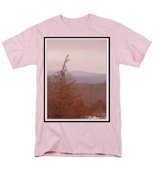 The Misty Mountains On A Misty Day Men's T-Shirt  (Regular Fit) by Patricia Keller
