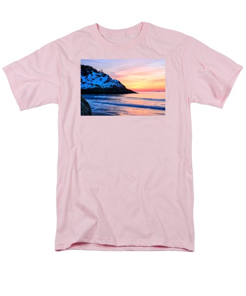 Touch Of Snow Singing Beach Men's T-Shirt  (Regular Fit) by Michael Hubley