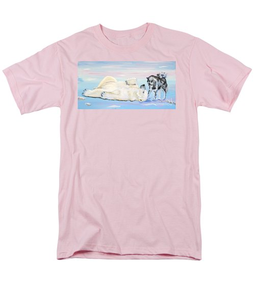 Unusual Buddies  Must Open Men's T-Shirt  (Regular Fit) by Phyllis Kaltenbach