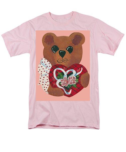 Men's T-Shirt  (Regular Fit) featuring the painting Valentine Hug by Barbara McDevitt