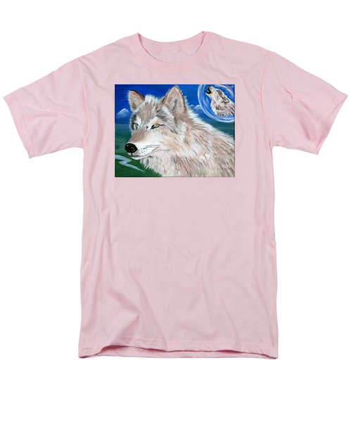 Men's T-Shirt  (Regular Fit) featuring the painting Wolves by Phyllis Kaltenbach