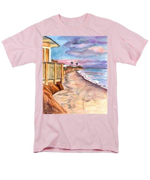 Men's T-Shirt  (Regular Fit) featuring the painting California Coast by Clara Sue Beym