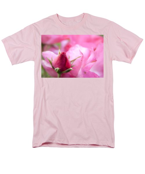 Men's T-Shirt  (Regular Fit) featuring the photograph Pink Rose by Jeannette Hunt