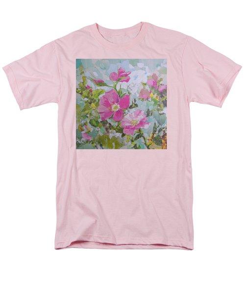 Shrub Roses Men's T-Shirt  (Regular Fit) by Robin Birrell