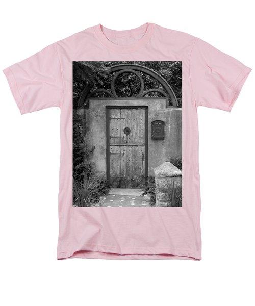 Spanish Renaissance Courtyard Door Men's T-Shirt  (Regular Fit) by Judy Wanamaker
