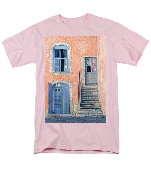 Men's T-Shirt  (Regular Fit) featuring the photograph Window And Doors Provence France by Dave Mills