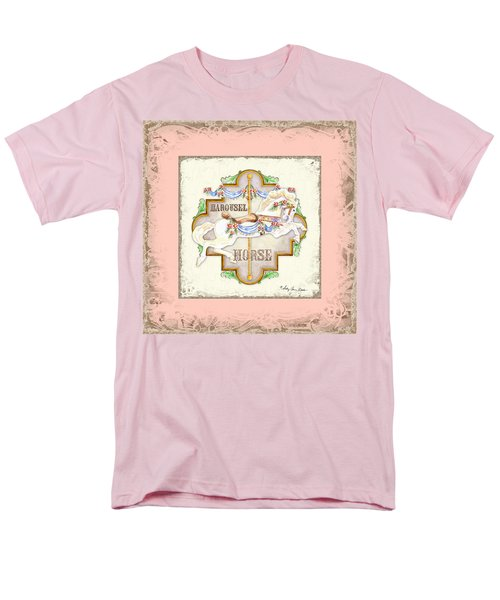 Carousel Dreams - Horse Men's T-Shirt  (Regular Fit) by Audrey Jeanne Roberts
