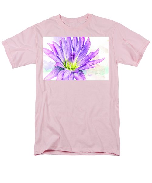 10889 Purple Lily Men's T-Shirt  (Regular Fit) by Pamela Williams