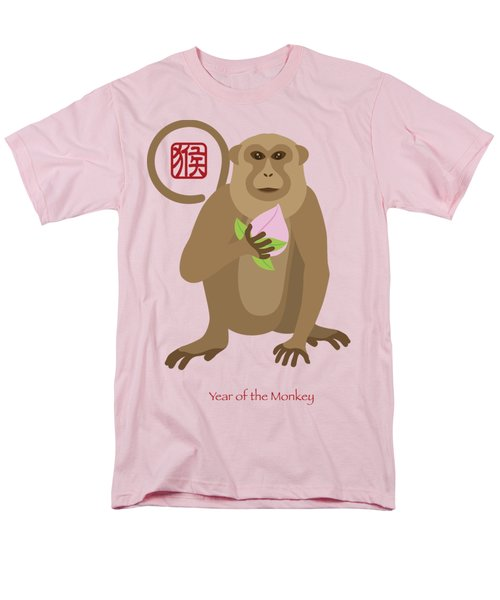 2016 Chinese Year Of The Monkey With Peach Men's T-Shirt  (Regular Fit) by Jit Lim