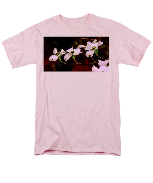 Men's T-Shirt  (Regular Fit) featuring the photograph 3 Dogwood Blooms On A Branch by John Harding