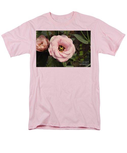 Pink Flowers Men's T-Shirt  (Regular Fit) by Elvira Ladocki